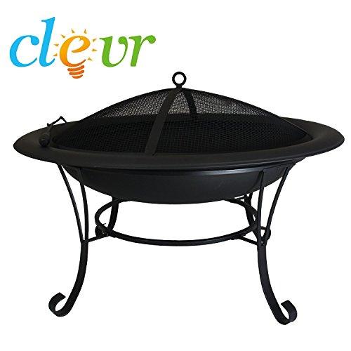 Outdoor Circle 30&quot Metal Firepit Backyard Patio Garden Bon Fire Heater Pit