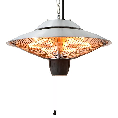 Ener-g Infrared Indooroutdoor Ceiling Electric Patio Heater Silver