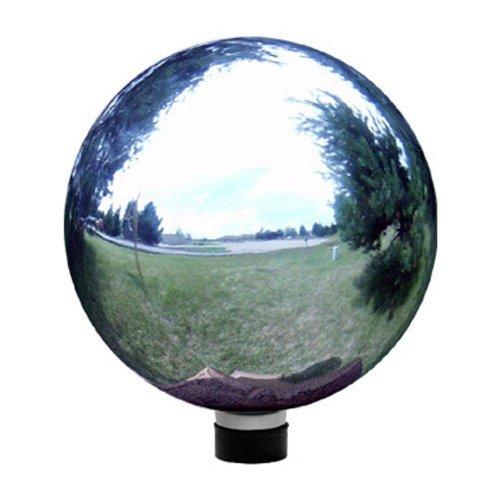 Wilsonamp Fisher 10&quot Silver Glass Gazing Ball