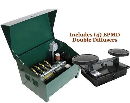 EasyPro Sentinel 34 HP Rotary Vane Pond Aeration System Aerates UpTo 4 Acres
