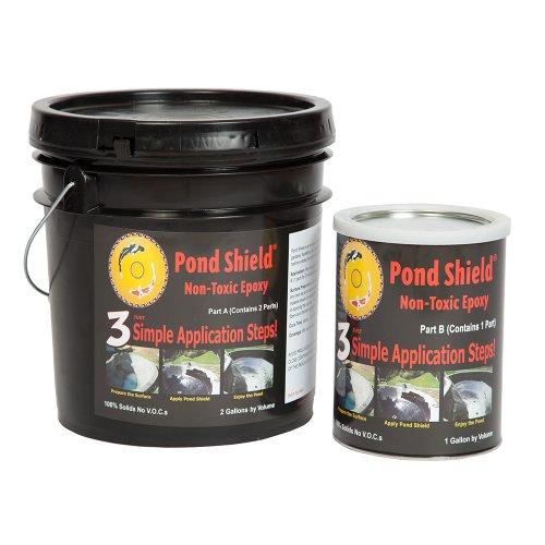 Pond Armor SKU-CLEAR-3GA Non-Toxic Pond Shield Epoxy Paint 3-Gallon Clear