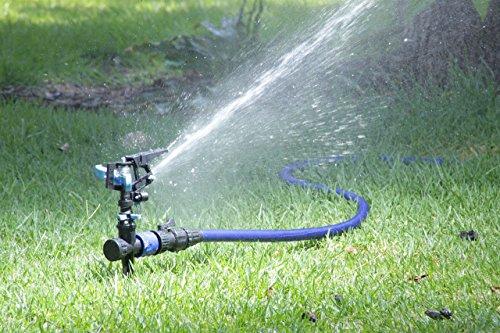 Columbus Day Sale - 50 Expanding Flexible Irrigation Hose Expandable Rubber Garden Water Hose Light Weight Double