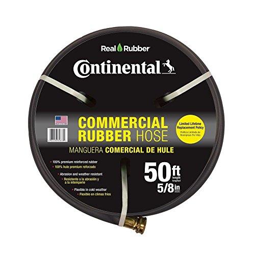 Premium 58 in Dia x 50 ft Commercial Grade Rubber Black Water Hose