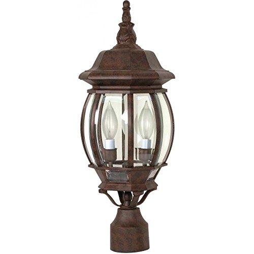 Filament Design 7778165898 Concord 3-Light Old Outdoor Lamp Post Head Bronze