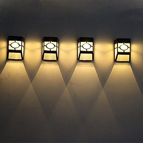 Kyson Waterproof Solar Led Wall Latern Lamps Pathway Light Outdoor Garden Lightings Yard Path Fence Lamp Warm