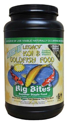 Microbe Lift 2lbs12ounce-pound Pond Microbe-lift Legacy Big Bites Koi And Fish Food Mllbbmd