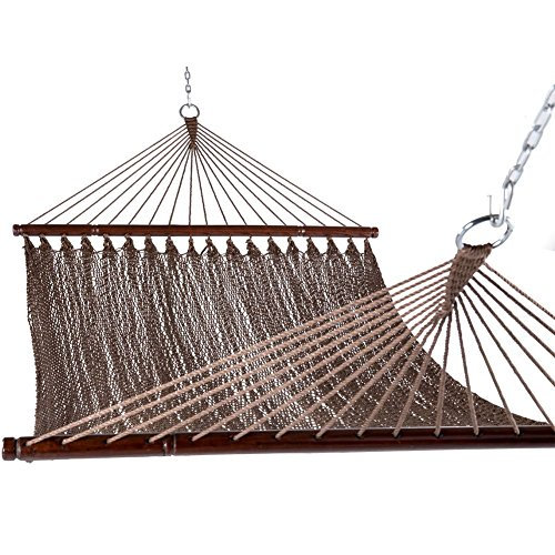 Sundale Outdoor 51inch Caribbean Hammock Hand Woven Polyester Rope Outdoor Patio Swing Bed (brown)