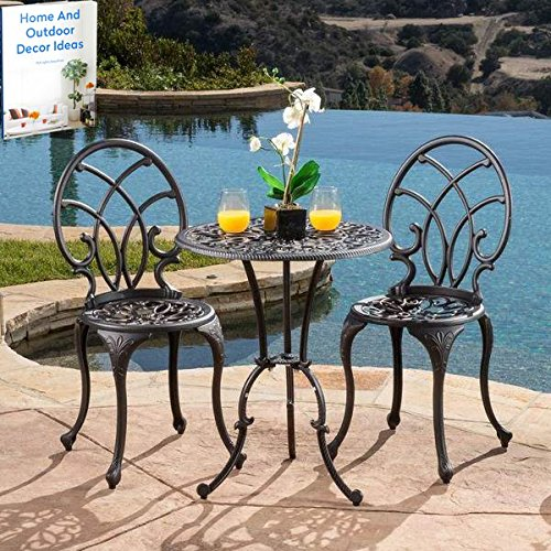 Garden Patio Furniture SetAluminum Oudoor Dining Round Table with ChairsBackyard Lawn Lounge Outside Weather Proof Balcony Set Ebook by Easy 2 Find
