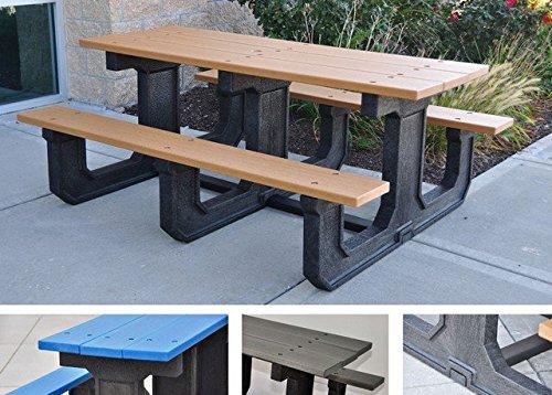 Jayhawk Plastics Park Place Recycled Plastic Picnic Table - 6L - Cedar - Cedar