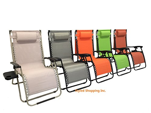 Deluxe Oversized Extra Large Zero Gravity Chair With Canopy  Tray - Limon Green