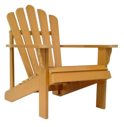 Shine Company Westport Classic Adirondack Chair Oversized Toffee