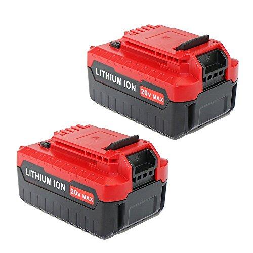 Enegitech 2 Pack 20v Max 40ah Lithium Battery For Porter Cable Pcc685l Pcc680l Cordless Power Tools