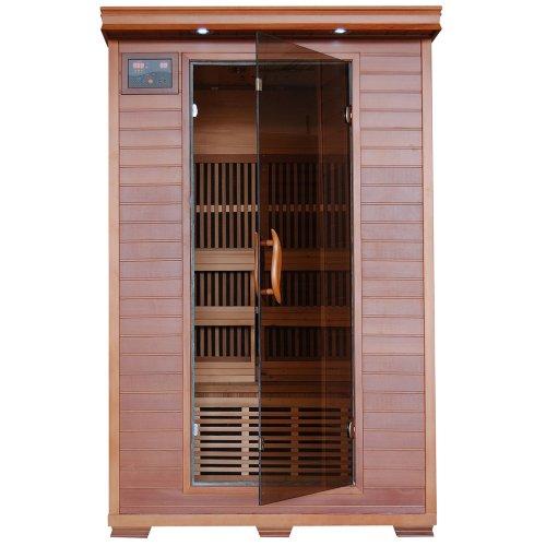 2-person Cedar Deluxe Infrared Sauna W 6 Carbon Heaters