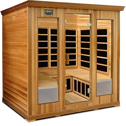 Crystal Sauna Lc400 4-5 Person Luxury Infrared Sauna In Red Cedar