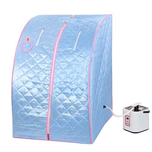 Eminentshop 2L Portable Home Steam Sauna Personal Therapeutic SPA Detox Weight Loss Indoor