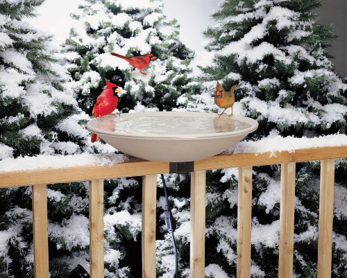 Ez Tilt-to-clean Heated Bird Bath Deck-mounted