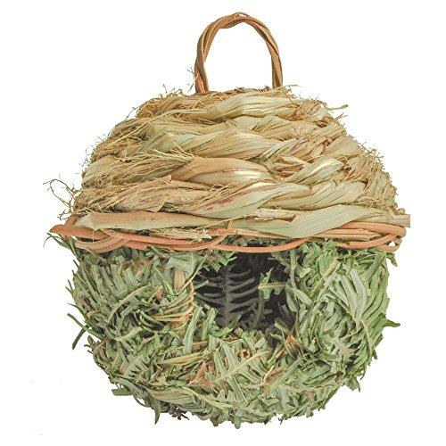 Gardirect Natural Birdhouse Wild Bird Nest Reed Weave Natural Roosting Pocket