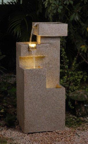 Imitate Sand Stone Cascade Tires Indooroutdoor Lighted Fountain