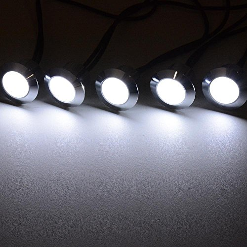 06Wpcs 110 Volts 10 Pack LED Deck Lighting Fixture w Transformer Cool White Color for Décor Landscape Garden Buildings Indoor Floors