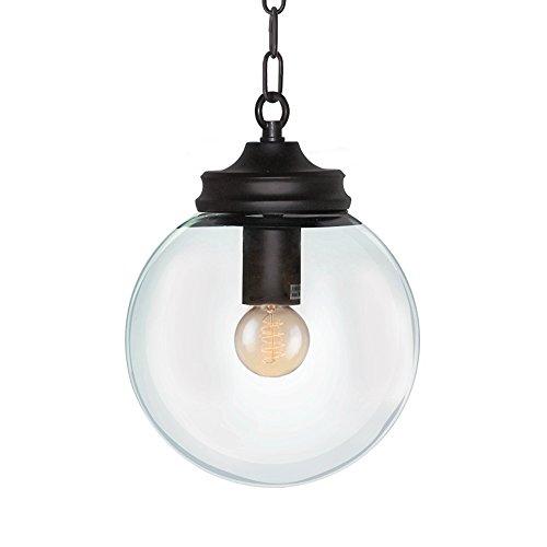 LNC Modern Globe Metal Pendant Lighting Clear Glass Shade