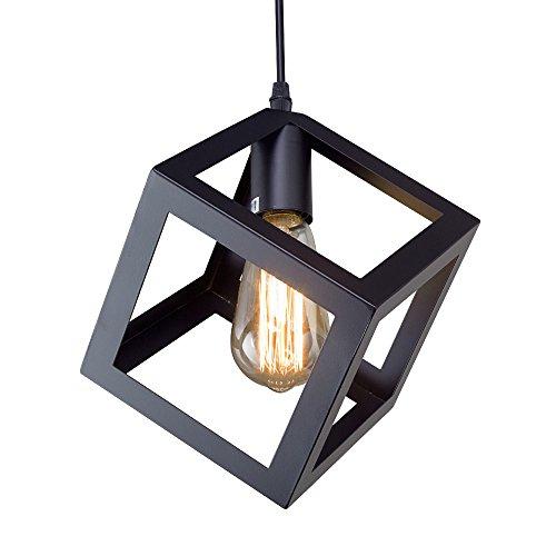 LNC Square Pendant Lighting Ceiling Hanging Light Fixtures for Living Room Dining Room Bedroom Kitchen Island