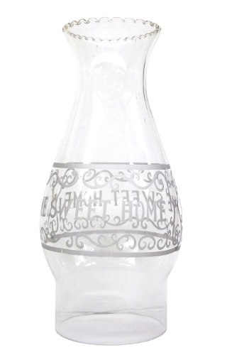 Glo Brite by 21st Century L85-06 Home Sweet Home ChimneyGlobe Glass Oil Lamp