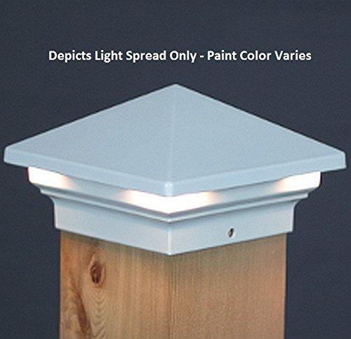 Venus LED Deck Post Light 3 12 - Walnut  Aurora DLX605W