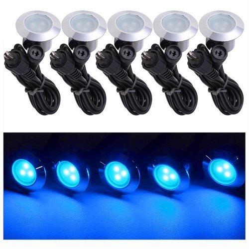 Triprel Inc Elegent 10 Pack LED Recessed Deck Lighting Fixture - BLUE