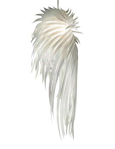 Ssby Modern Pendant Light Romantic Novelty White Angel Wings Pp Plastic Feather Bedroom Dinning Room Home Decor