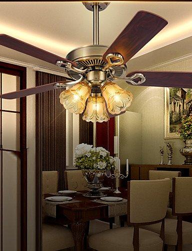 Ssby Retro Bar Iron Ceiling Fans Lamp 3 Light For Dinning Room  110-120v
