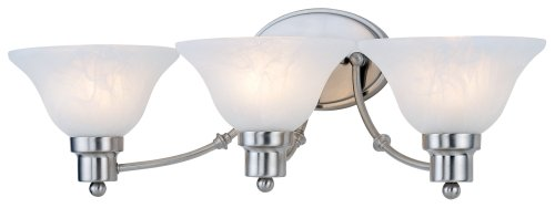 Hardware House 544643 24-34-inch By 7-12-inch Bathwall Lighting Fixture Satin Nickel