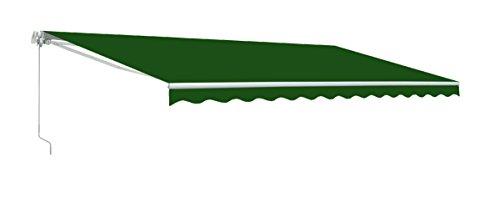 ALEKOÂ 12x10 Feet Retractable Patio Awning GREEN 35m x 3m