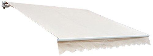 Outsunny Patio Manual Retractable Sun Shade Awning 10 X 8-feet Cream