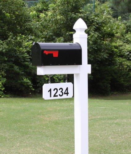 The Loudon Vinyl  Pvc Mailbox Post - White includes Mailbox