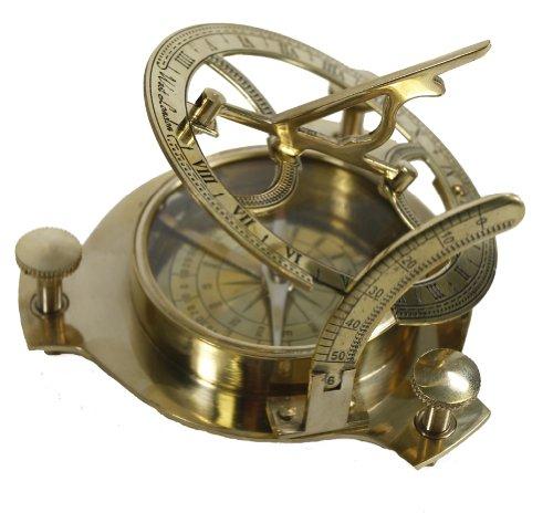 4&quot Sundial Compass - Solid Brass Sun Dial