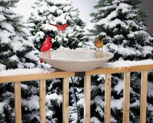 Ez Tilt-to-clean Heated Bird Bath Deck-mounted