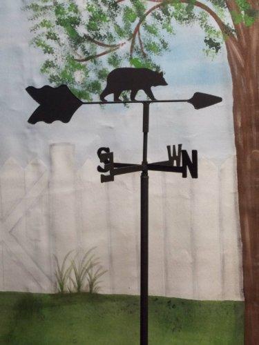 Bear Garden Style Weathervane Wrought Iron