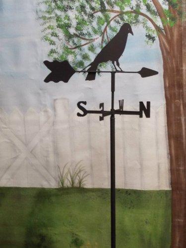 Crow Garden Style Weathervane Wrought Iron