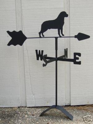 Rottweiler Roof Mounted Weathervane Black Wrought Iron