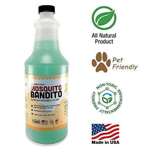 Mosquito Killer Concentrate By Killer Green Mosquito Killer Spray All Natural Non-toxic 32 Fl Oz