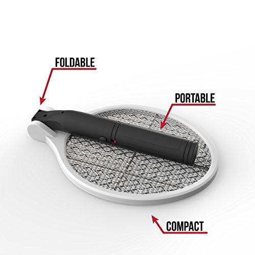 Electric Fly Swatter Bug Zapper Racket Electronic Portable Mosquitos Stingeramp Fruit Flies Killer Deadly 2300v