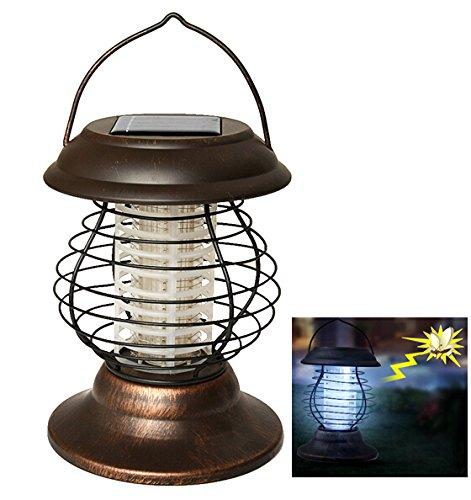 Agptek Indoor Outdoor Wireless Solar Power Mosquito Killer Uv Lamp, Insect Pest Bug Zapper Sensor Light For Camping