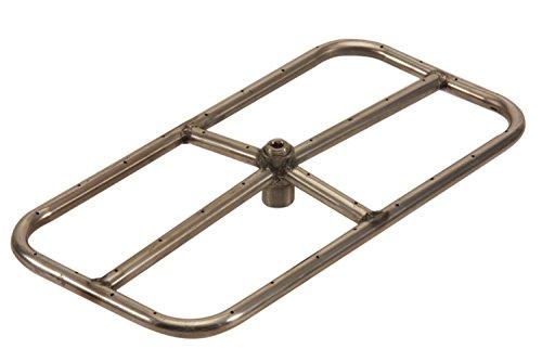 HPC Rectanguler Propane Gas Fire Pit Burner 18x9-Inch