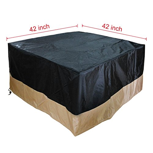 Stanbroil Square Fire Pit Table Cover Black 42-Inch