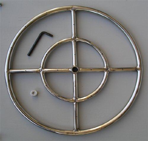 Fire Pit Ring 18&quot Diameter Stainless Steel Burner Ring