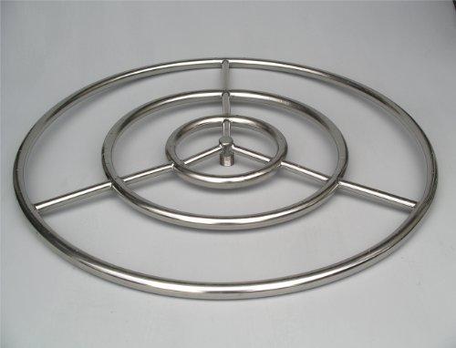 Fire Pit Ring High Capacity 30 Diameter Stainless Steel Burner Ring