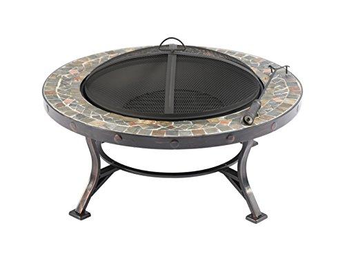 Baner Garden 34 F13 Round Portable Backyard Outdoor Garden Patio Stove  Steel Firepit With Guard Top