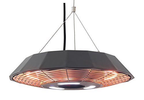 Ener-G Hanging Infrared Electric Outdoor Heater with LED Light Remote