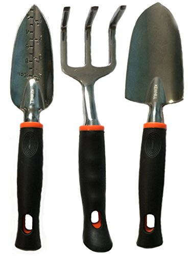 3-piece Garden Tool Set By Kewhill Gardening Tools Include Trowel Transplanter hand Shovel And Cultivator