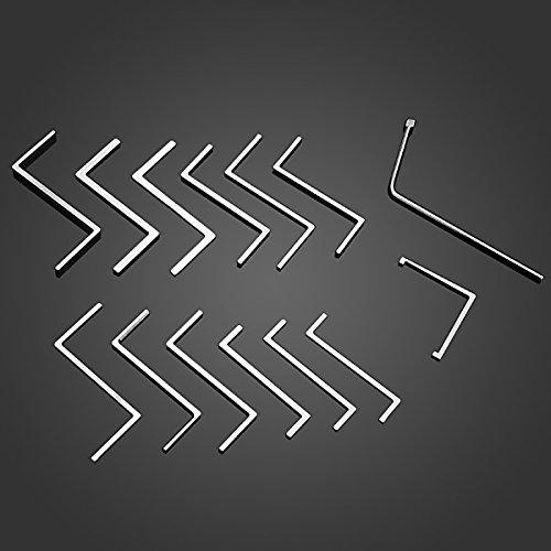 14pcs Z L Style Lock Pick Wrench Push Rod Rotating Tension Tools Set